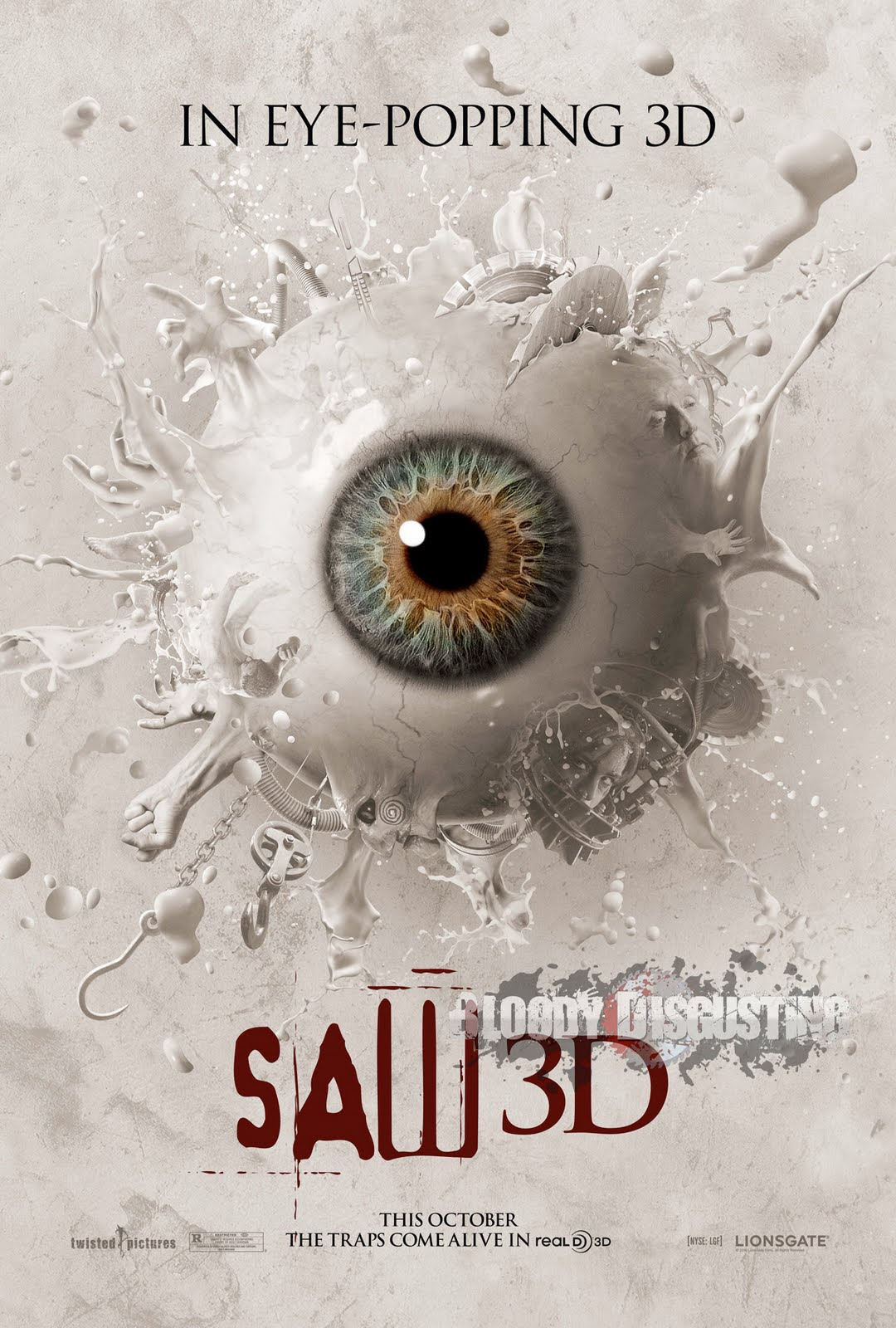 Amazing saw 3d eye popping poster motion poster