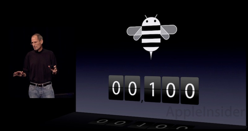 Apple Keynote of iPad 2 Launch - Android Honeycomb 3.0 has only 100 apps