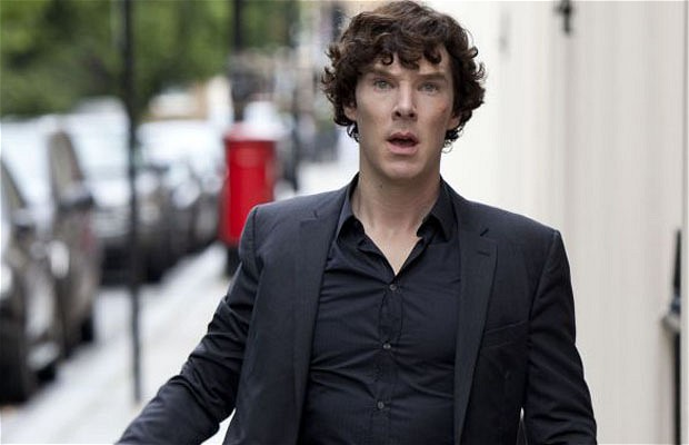 Benedict Cumberbat in the series 'sherlock'