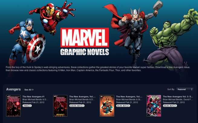 Marvel Comics Now on iBooks