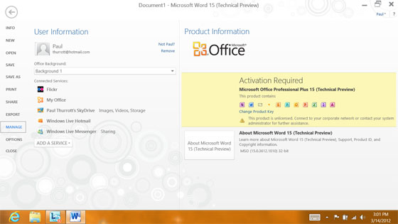 Microsoft Office 15 Gets Metro-like Makeover