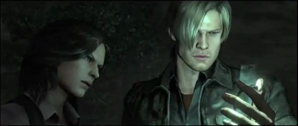 Leon Kennedy and agent Helena Harper in Resident Evil 6