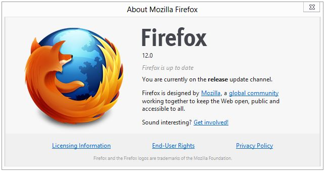 Download Firefox 12 for Windows, Mac And Linux