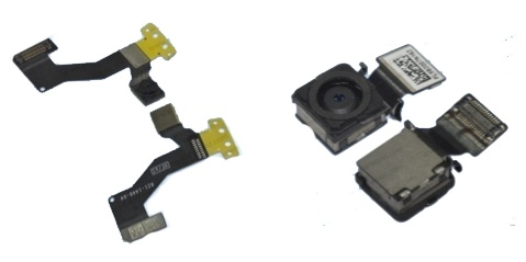 """iPhone 5"" front camera (left) and rear camera (right)"