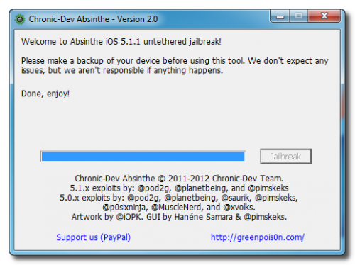 iOS 5.1.1 untethered Absinthe 2.0 jailbreak just announced