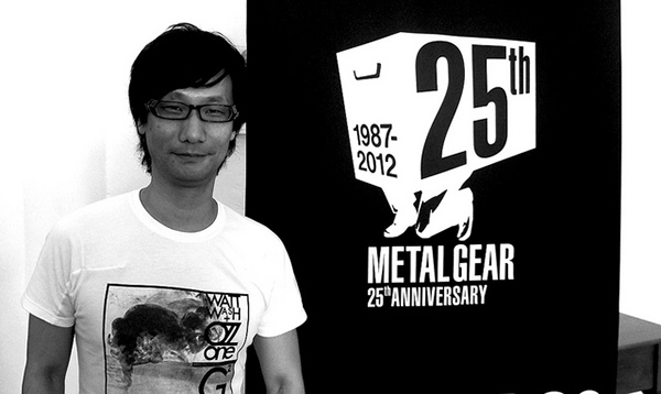 Metal Gear creator Hideo Kojima celebrating the 25th anniversary of the game series