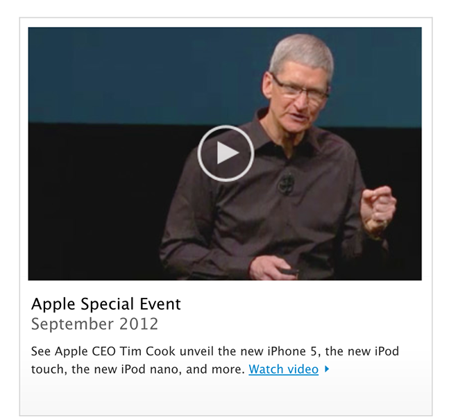Watch Apple iPhone 5 Full Media Event