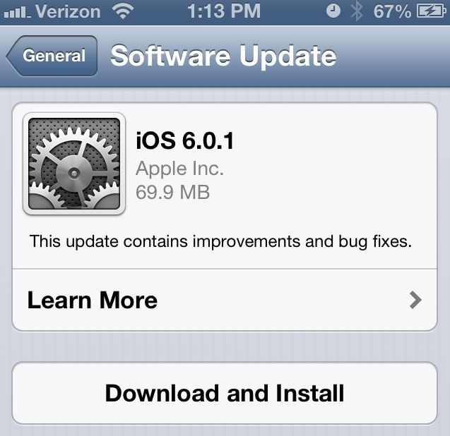 iOS 6.0.1 iPhone, iPad, iPod Touch, Direct Download Links Repository