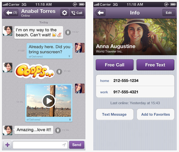 Viber Launches Desktop Apps For Mac And PC; Allows Video Calls