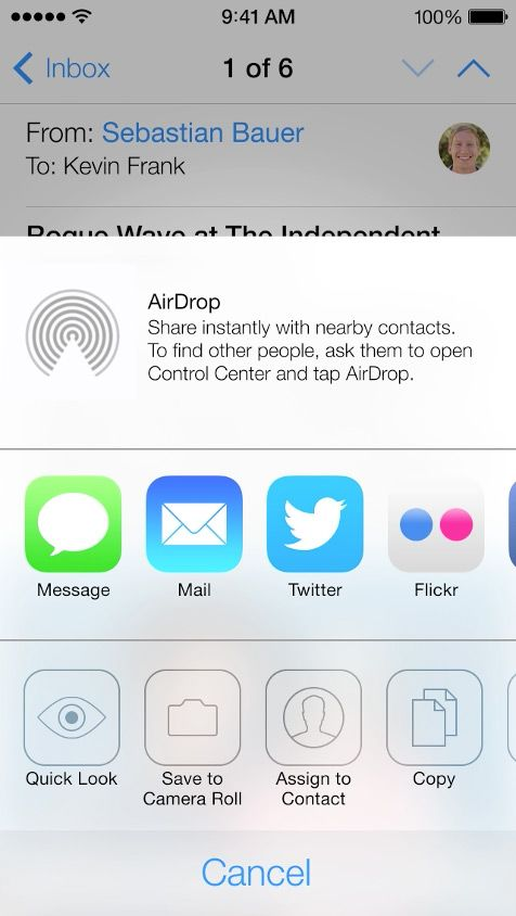 how to turn on airdrop ios 11